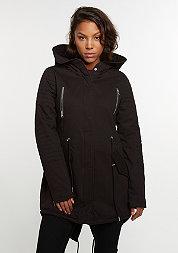 Sherpa Lined Cotton Parka black