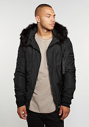 Übergangsjacke Hooded Bomber Fur black