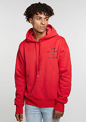 Hooded-Sweatshirt Gothic Print red