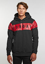 Hooded-Sweatshirt Flight Fleece Graphic black/gym red