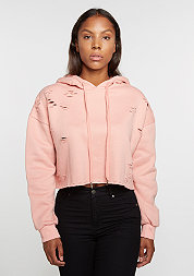 Destroyed Hooded Sweatshirt stone pink
