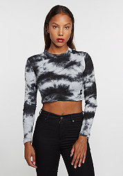 Longsleeve Crop Top grey acid