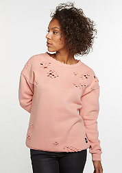 Destroyed Sweatshirt stone pink