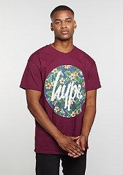 T-Shirt Flower Circle burgundy