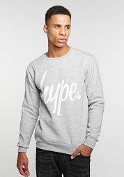 Sweatshirt Script grey/white
