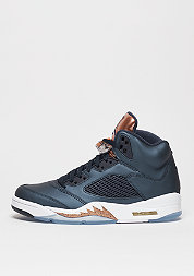 Basketballschuh Air Jordan 5 Retro obdisian/white/metallic red brown