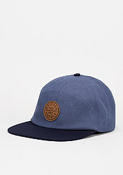 Strapback-Cap Oath 7 Panel light blue/navy