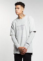 Sweatshirt BL Box Cut Off Layer grey heather/grey