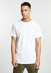 T-Shirt Vent Zip Longline white