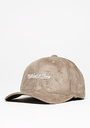 Baseball-Cap 110 Script Poly Suede taupe/white