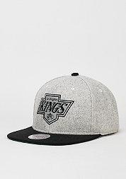 Snapback-Cap Melange Flannel NHL Los Angeles Kings black