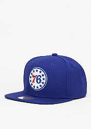 Snapback-Cap Wool Solid NBA Philadelphia 76ers royal