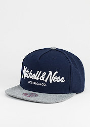Snapback-Cap Pinscript navy/heather grey