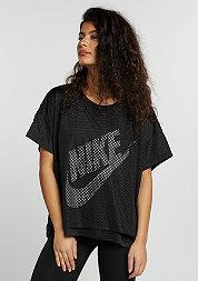 T-Shirt Mesh Crop black/black/white/white