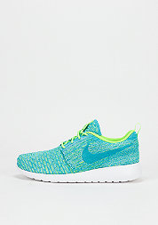 Schuh Wmns Roshe One Flyknit electric green/blue lagoon/glavier ice