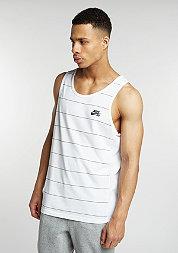 Tanktop Dri-Fit Yarn Dye white/black