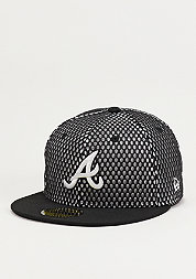 Fitted-Cap Base Mesh MLB Atlanta Braves black/optic white
