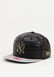 Snapback-Cap Quilted Crown MLB New York Yankees black/gold