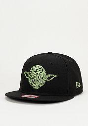Snapback-Cap Word Character Yoda 9Fifty black