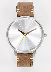 Uhr Kensington Leather brown/lime