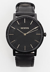 Uhr Porter Leather all black/gold
