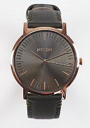 Uhr Porter Leather rose gold/gunmetal/surplus