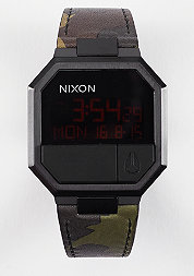 Uhr Re-Run Leather all black/camo