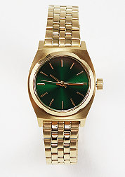 Uhr Small Time Teller gold/green sunray