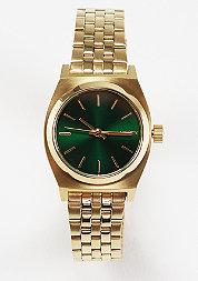 Uhr Small Time Teller gold/green sunray