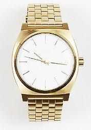 Uhr Time Teller gold/white