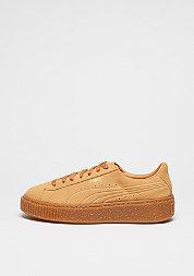 Schuh Suede Platform Speckle bisquit gum gold
