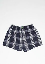Boxershort Plaid dark blue/white