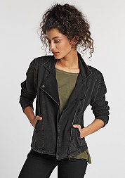 Jacke Acid Wash Terry Biker dark grey