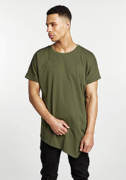 T-Shirt Asymetric Long olive