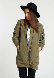 Jacke Peached Long Bomber olive