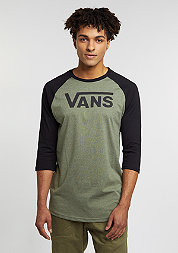 Longsleeve Classic Raglan heather olive/black