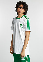 T-Shirt SS Tee white/green