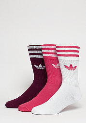 Sport-Socke Solid Crew 3PP wonder bloom/amazon red/white