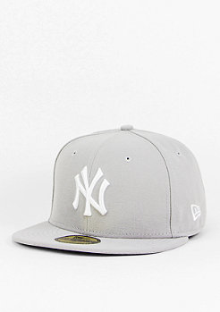 New Era Fitted-Cap MLB Basic Yankees grey