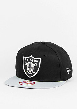 Snapback-Cap 9Fifty Cotton Block NFL Oakland Raiders black/grey