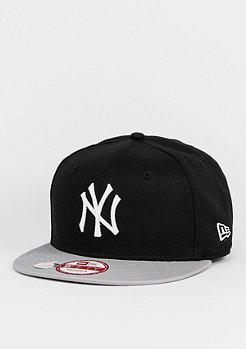 Snapback-Cap 9Fifty Cotton Block MLB New York Yankees black/grey