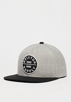 Snapback-Cap Oath III light heather grey/black