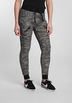 Fitted Melange Zip black/grey