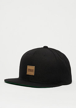 Snapback-Cap Leatherpatch black