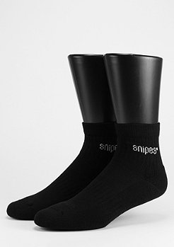 SNIPES Sportsocke Ankle Cut 2er Pack black