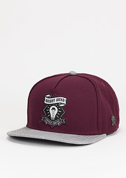 Snapback-Cap Bright Ideas maroon/dark grey