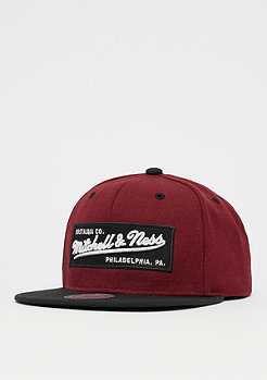 Mitchell & Ness Box Logo burgundy/black