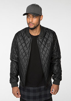 Jacke Diamond Quilt Leather Imitation black