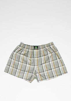 Boxershort Plaid green/beige