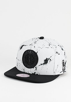Snapback-Cap Marble Logo NBA Brooklyn Nets white